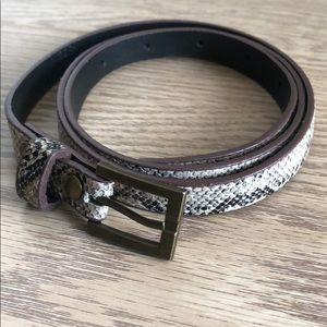 Snake print high waisted belt